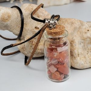 3/$25 Spiritual Genuine Stones Carnelian Leather